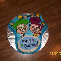 Fairly Oddparents The cake that won't quit, it was tough to do the fine detail and then it didn't look like I envisioned. The day of the party the...