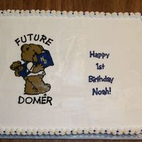 Notre Dame 1St Birthday FBCT of the future domer bear for Notre Dame themed 1st birthday.
