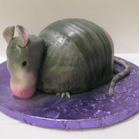 Armadillo Cake My first attempt at making an Armadillo Cake and using an airbrush. Cake is Red Velvet with buttercream and covered in fondant. Tail and...