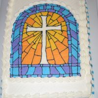 Stained Glass Look Cake 2 Same design, second cake