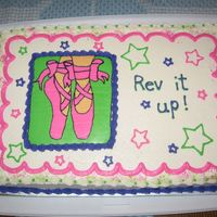 Dance Cake I did this cake for the Dance Studio here in town yesterday. They wanted the bright colors but I think I would have been happier with it if...