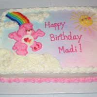 Carmen's Cake Well, I am definitely happier with this one than my last one. But wish I'd done the care bear as a transfer. :( Oh well. I know my...
