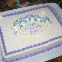 Grandma's Cake This is just like the yellow one I made last week. When my MIL saw it she ordered the same one for her Mom. Mary LOVES lavender and...
