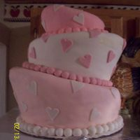 My Birthday/valentines Day Cake Topsy Turvy Cake.. All vanilla Cake. Buttercream and MM fondant. 10in, 8in, 6in. My second Topsy Turvy Cake. I love how it turned out!