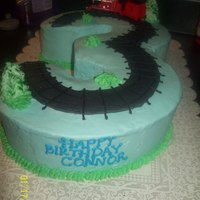 Thomas 3   3 shaped cake for my Sons 3rd birthday!