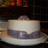 Air Bubbles.. :[   Gumpaste Bow and Flowers.. Lots of air bubbles in this one.
