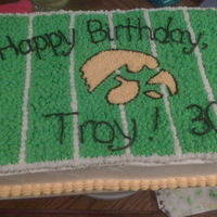 University Of Iowa Hawkeyes I went to ISU, but my cousin's husband is a U of I fan, so I relented and made the cake...actually it was really fun and I freehanded...