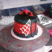 Spiderman ice cream cake, pastry pride frosting with bc trim and accents