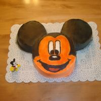 Mickey Mouse I did this for my son's 4th birthday.....ok so micky stayed out in the sun a bit to long and has a good tan....lol (good thing kids...