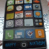 Iphone Birthday Cake Carrot cake, covered in fondant, thanks for everyone on CC for your ideas.I had to try this out and everyone loved it...
