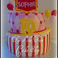 Circus Theme Birthday Cake This was my 1st topsy turvy cake. Circus theme for a 10 year old little girl. TFL!