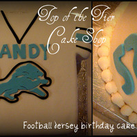 Football Jersey Cake Well, it's not a pro football cake but a football jersey cake nontheless. It was a 12 inch square cake and cut it out to make it a...