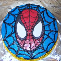 Spiderman This Spiderman cake was made for a little girl who loves Spiderman... It was made last minute so it's a bit messy.... BC icing with...