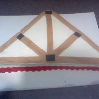 Truss Cake This cake I made for my dad who own a truss company... BC with MMF accents pretty simple cake.... My dad thought it was great.. Made him...
