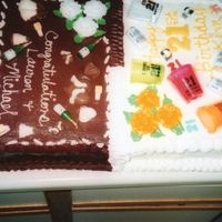 Half Birthday Half Wedding Celebration  This was a cake for a 21st birthday and also for a couple that had gotten married a month before but never had a wedding cake. The cake is...