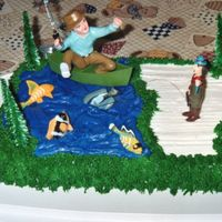 Let's Go Fishing This was my dad's birthday cake since fishing is one of his favorite things to do. The entire cake is iced in buttercream. For the...