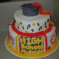 High School Musical This is a HSM/graduation cake.. The customer wanted a HSM cake with a graduation theme.. She loved it.. Hope you like.. thanks for looking...