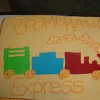 Vaction Bible School This was a cake made for Vacation Bible School.. the theme this year was Boomerang Express.. Train is fondant