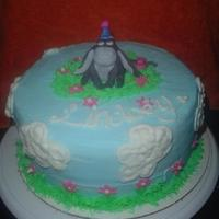Eeyore Cake Customer wanted a simple eeyore cake.. This is what I came up with.. She loved it.. The eeyore is made of fondant and was hard to match the...