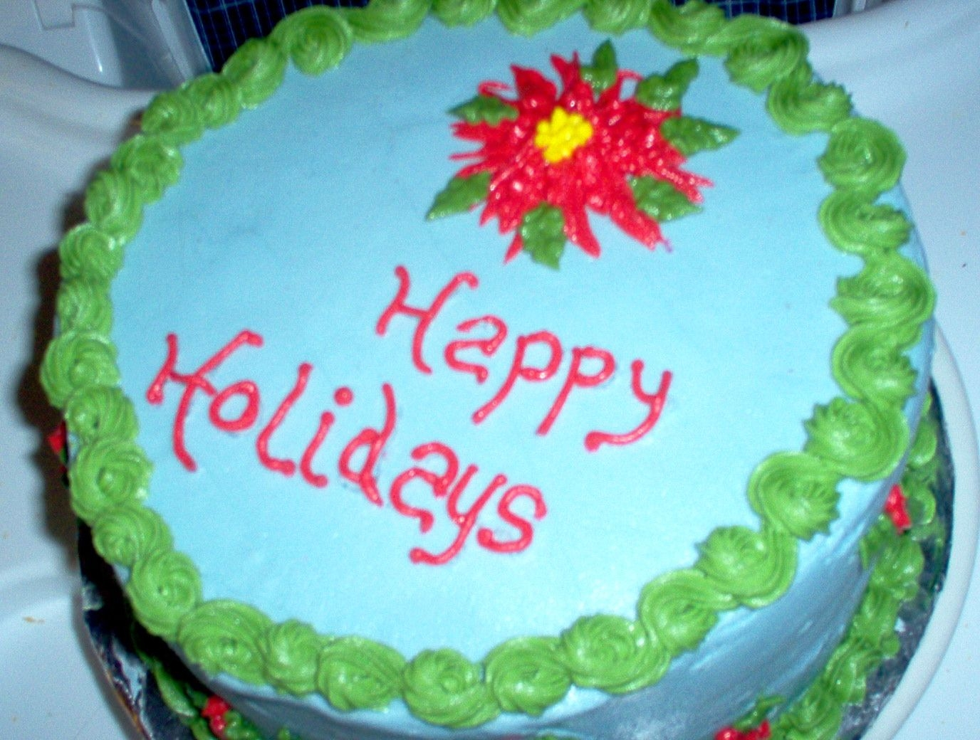 Cake For Holiday Potluck DH is having a potluck at work tomorrow, so this is what he's taking. Of course, he told me he needed this... yesterday. It's now...