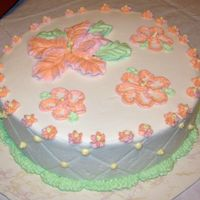 Pastel Hibiscus Cake This is the first cake I've done in over a year. It's all BC on an 8 inch round and it came out better than I thought it would. I...