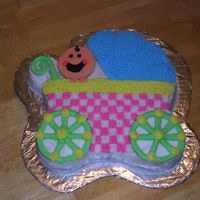 Baby Buggy Baby Buggy with baby riding! For a Neutral shower.