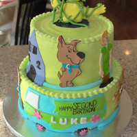 Scooby Cake  I saw this cake online somewhere ( maybe even from this site) and copied the general idea of the design but tweaked it a little to make it...