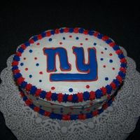 "Hubby's ""giant"" Father's Day Cake My Hubby is a HUGE NY Giants Fan, so for father's day I made him a ""Giants"" Father's Day cake. I made the Giant's..."