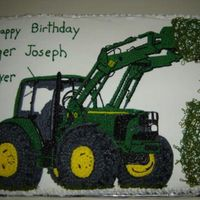 John Deere Tractor And Hay   A friend's son's birthday. He loves tractors