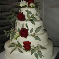 First Wedding Cake All BC, the flowers were added after we delivered.