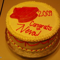 Neva's Graduation 09/17/09  I made this cake for my friend's graduation yesterday. Its a butter cake (her favorite) with Indy Debi's buttercream. Since I...