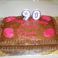 Birthday Cake For A 90 Yr Old Grandma   I made this cake for my client, whose mil was turning 90. She was a spunky little lady with her walker.