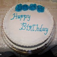 Birthday Cake   I made this cake for someone at the last minute, it took me two hours to make.