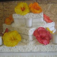 Hibiscus Flowers Hibiscus flower petals are made of gumpaste, stamens are store made and colored. I could not find how to make them anywhere on the net so I...