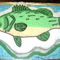 Bass Fish This is the second cake I have made and thought I would share it. I made this for my husband's b-day! He loved it!! I would love to...