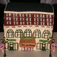 New Southern Hotel This was made for a lady who loves this building. Her son rented the building for her 50th surprise bday party. This cake was part of her...