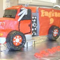 Fire Truck I had a family member ask me to make a cake for his volunteer Fire Dept. Benefit Dinner. I asked him to send me a photo of one of his...