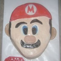 Super Mario Great inspiration from fellow CC. Thank you. BC icing with fondant accents.