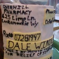 60Th Birthday Party Viagra Pill Bottle This is the pill bottle for my father in laws 60th birthday partyt. It was a RX for Viagra. It had replica pills flowing out of the top of...