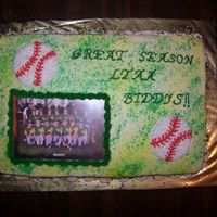 Troys Baseball Team Cake
