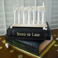 Acropolis On Books Cake was made for a young man that was graduating College (Business Economics Major), was going into Law School , but was first going to...