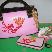 """juicy Couture Shopping Spree"" Client wanted to give her daughter a birthday cake that looked like the ""Juicy Couture"" Handbag she was getting for her birthday..."