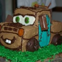 3D Tow Mater This is my first carved cake. I made this for my son's 3rd Birthday. Thanks for taking the time to view my cake.