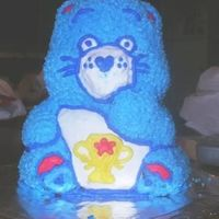 3D Care Bear I did this cake for a family reunion. It is my first 3D cake. My husband found me a vintage 3D Care Bear cake pan.