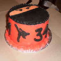 "Ninja 6"" gluten-free ninja chocolate cake with chocolate filling and buttercream frosting. Inspiration from brea1026 and LvMy4Runner."