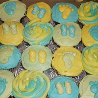Baby Shower Cupcakes Simple cupcakes I made for a friend's co-worker. Marble cupcakes with Buttercream Drem.