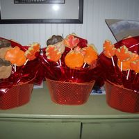 Thanksgiving Baskets sugar cookies with rolled buttercream