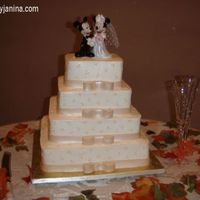 Wedding I made this for my friend as her gift. A LOT of lessons learned. This was my first Weddding cake and my first four tier cake! I would have...