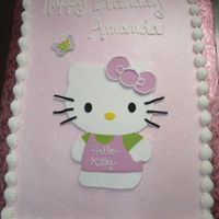 Hello Kitty Cake I continue to have this fear of doing drawings out of buttercream..so I made her out of fondant...