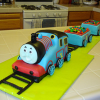 Thomas The Train Here is the Thomas Train cake I made my son for his 2nd birthday. I had to use M&M's because my son loves them so much. So I made...